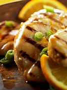 Grilled Orange Chicken with Scallions