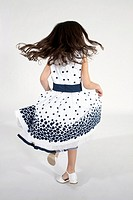 Little girl, rear view