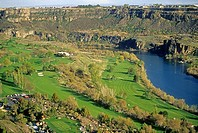 Snake River Canyon, Blue Lakes Country Club and golf course in The Snake River Canyon near the city of Twin Falls, Idaho