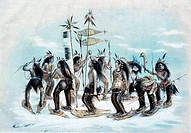 The Snow_Shoe Dance, from Currier & Ives, color lithograph, 1834_1907, USA, Washington DC, Library of Congress