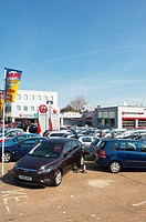 The Drive garage selling used cars in Bury Saint Edmunds , Suffolk , England , Great Britain , UK