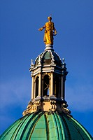 Florentine style central dome on the Royal Bank of Scotland building located on the Mound. Inspired by the 17th century Italian painter and architect,...