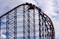 England, Lancashire, Blackpool. The ´Pepsi Max Big One´ roller coaster, located at the Blackpool Pleasure Beach Theme Park.