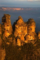 The Three Sisters at Sunset Blue Mountains National Park New South Wales Australia