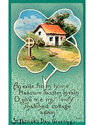 A vintage St. Patricks Day Souvenir card