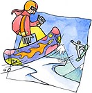 Two people snowboarding (thumbnail)