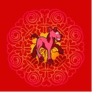 Chinese new year symbol of horse