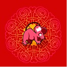 Chinese new year symbol of mouse (thumbnail)