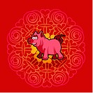 Chinese new year symbol of pig