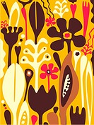 A whimsical illustration of flowers and plants (thumbnail)