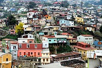 Tipical hills of Valparaiso city