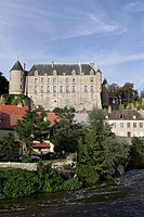 CHATEAU ON THE BANKS OF THE CHER IN CHATEAUNEUF_SUR_CHER, CHER 18, FRANCE