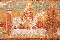 FRESCOES IN THE CHURCH OF BRINAY, CHER 18, FRANCE