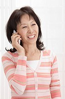 Wife, Woman using mobile phone and laughing