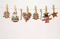 Gingerbread Cookie on a Clothesline