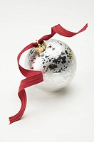 Ribbon on a Christmas bauble