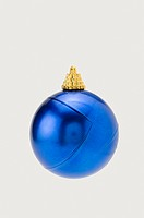 A blue Christmas bauble