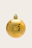 A golden Christmas bauble