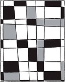 A modern black, white and grey grid pattern