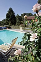 SWIMMING POOL, RURAL GITE OF LA FAISANDERIE, BEAUMONT_LES_AUTELS, EURE_ET_LOIR 28, FRANCE