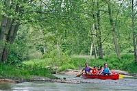 CANOEING_KAYAKING DOWN THE HUISNE BETWEEN MARGON AND NOGENT_LE_ROTROU, REGION OF PERCHE, EURE_ET_LOIR 28, FRANCE