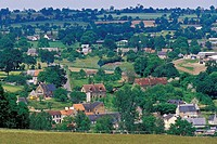 SMALL VILLAGE IN THE NORMANDY BOCAGE, MONT DE CERISY, ORNE 61, NORMANDY, FRANCE