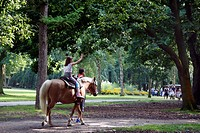 PONY RIDE IN THE MONTGEON FOREST, LE HAVRE, SEINE_MARITIME 76, NORMANDY, FRANCE