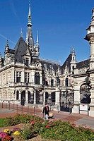 THE FACADE OF THE BENEDICTINE PALACE, FECAMP, SEINE_MARITIME 76, NORMANDY, FRANCE