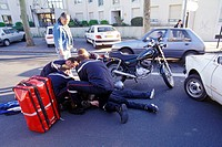 MOPED ACCIDENT, NANTES, LOIRE ATLANTIQUE 44, FRANCE