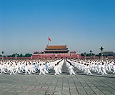 Taijiquan performance at Tiananmen Square,Beijing,China