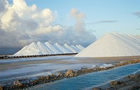 sea salt mine, Bonaire Caribbean Sea, Dutch Antilles Netherlands
