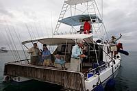 fishing boat, Indian Ocean Alphonse Island, Seychelles