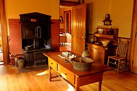 Kitchen, Mark Twain House, Interior, Hartford, Connecticut, USA