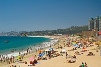Important beach of Viña del Mar city