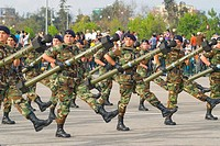 Comando in Military Parade in Santiago city Chile