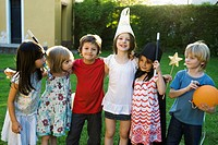 Children together for party, group photo
