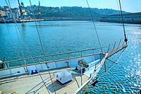prow of sailing ship  Port of Pasajes