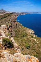 Coastline, Moraira, Alicante province, Comunidad Valenciana, Spain