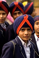 India, New Delhi, young sikh during the anniversary of the martyr of Guru Tegh Baradur