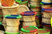 India, near New Delhi, basketry