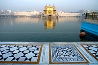 India, Punjab, Amritsar, the Golden Temple, pool of nectar