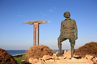 Cyprus, Paphos, statue of Gorgios Grivas
