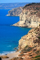 Cyprus, Kourion, cliffs and beach