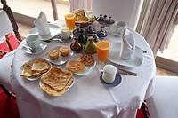 Morocco, Tangier, breakfast