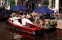Open air cafe on Herengracht, Holland Amsterdam, The Netherlands