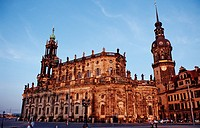 Hofkirche, Hausmannsturm and Schloss, Dresden, Germany