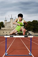 Hurdler and tower of london