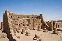 Necropolis of al_Bagawat Cemetery in Charga Oasis, Libyan Desert, Egypt
