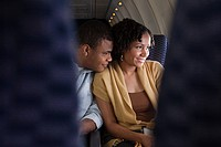 Couple on an airplane