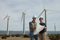 Engineers on wind farm